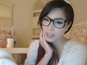 Korean Glasses Girl On Webcam
