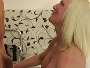 German Amateur Sex With Big Titted Mature Blondie